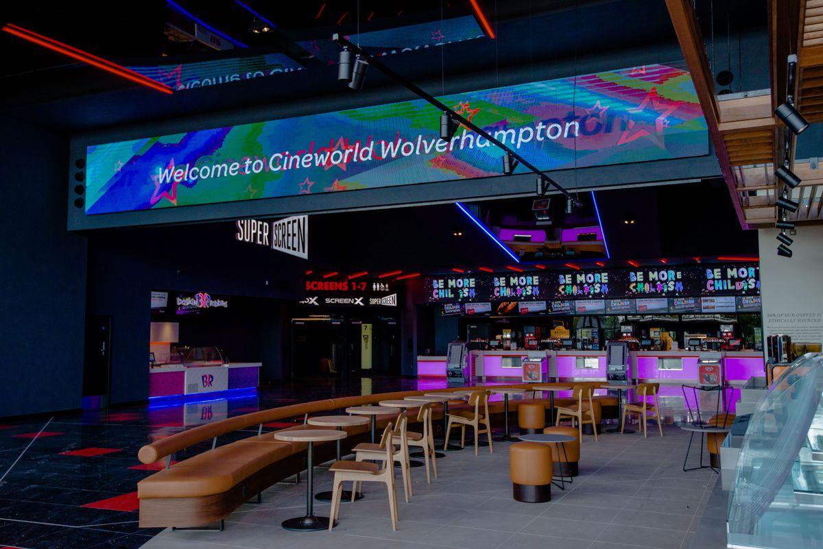 The foyer at Cineworld Wolverhampton