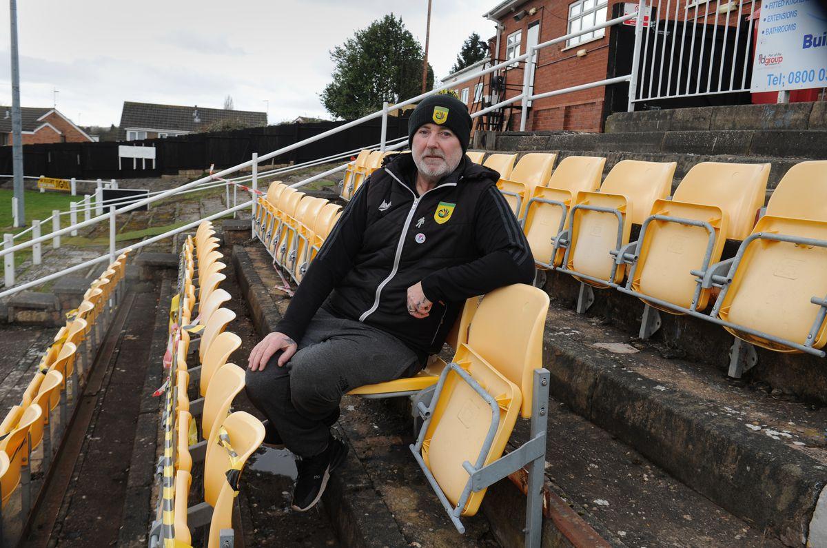 Hoping to improve facilities at Gornal Athletic FC, Garden Walk Stadium, Lower Gornal, Dudley, club secretary Kevin Williams