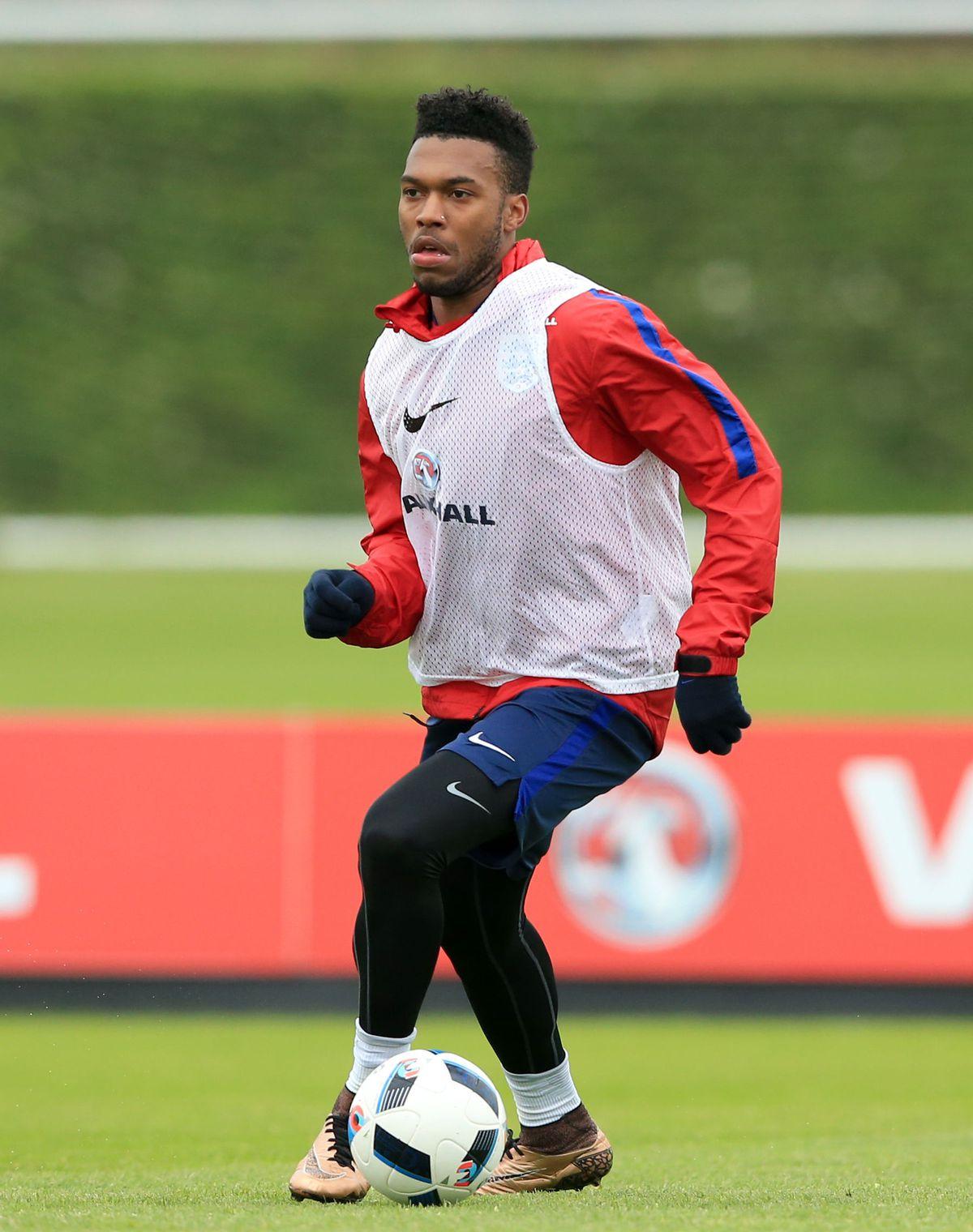 Daniel Sturridge training with England.