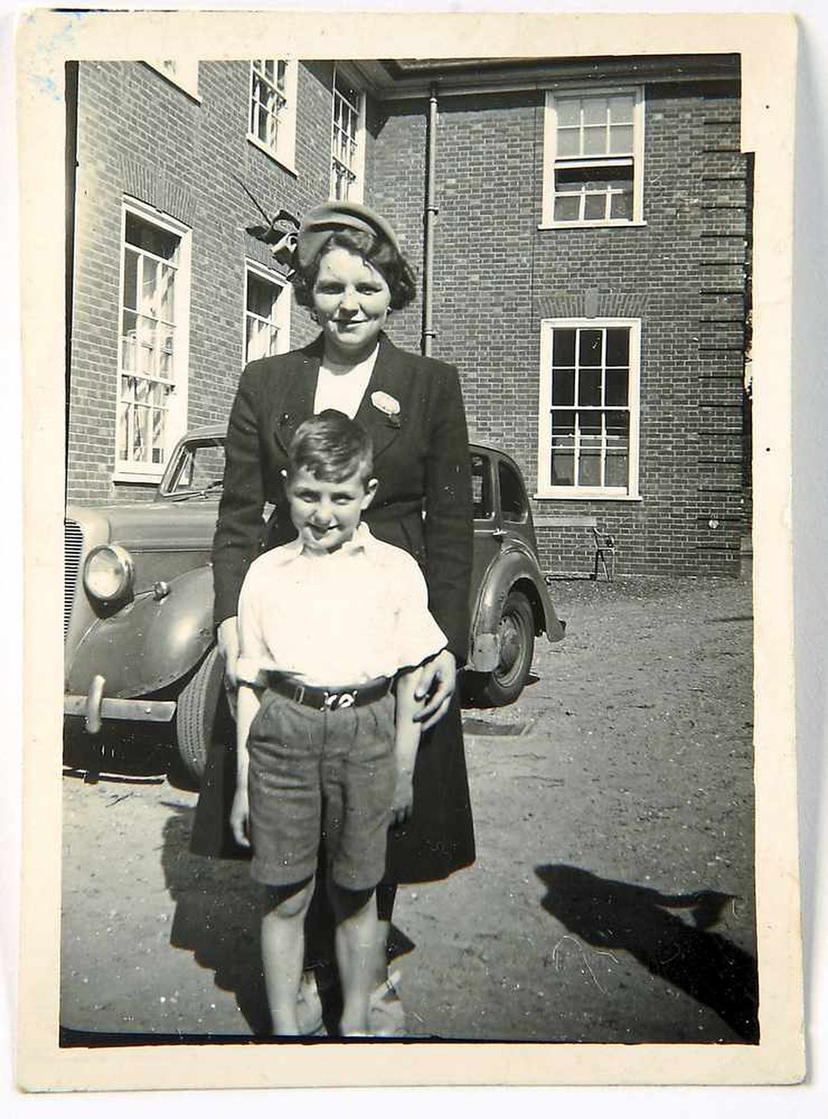 Sports day in Wolverhampton, with mother in 1951