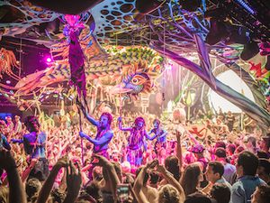 The elrow weekend festival offers a weekend of vibrant colour and music