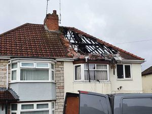 House in Kenelm Road after the roof was destroyed in a fire