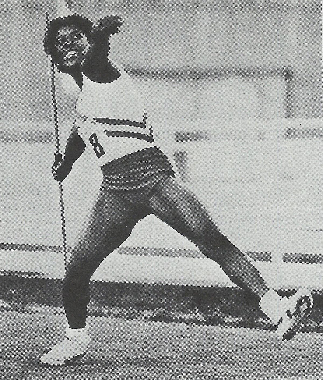 Tessa Sanderson in her sporting heyday