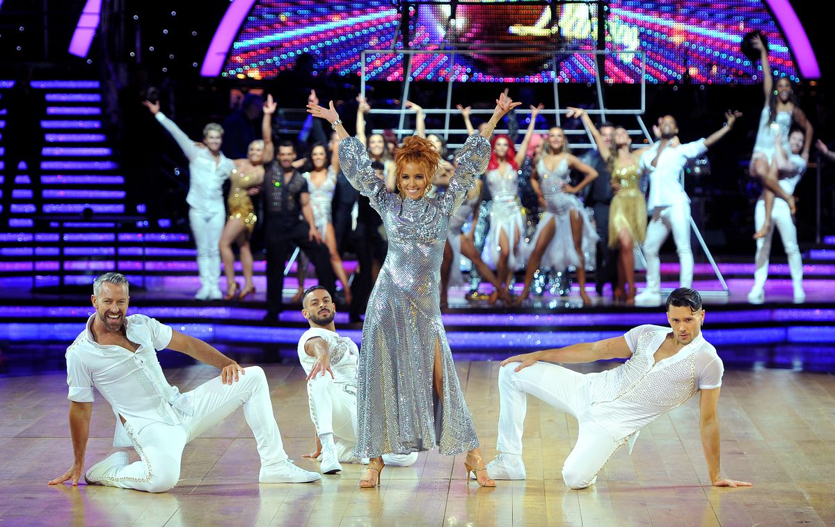 Host Stacey Dooley and the cast of Strictly Come Dancing Live