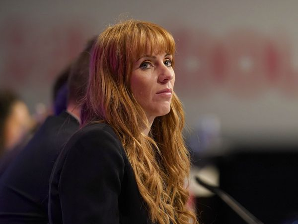 Labour deputy leader Angela Rayner listening to speakers on the main stage during the Labour Party conference at the Brighton Centre (Gareth Fuller/PA)