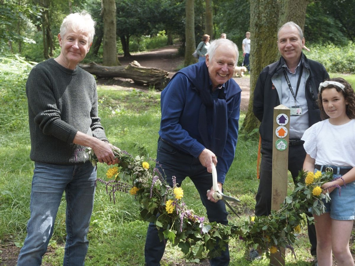TV presenter Nick Owen helped to officially open the new footpath