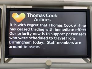 The message to passengers at Birmingham Airport on Monday