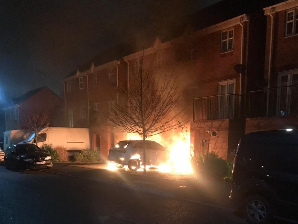 Family Flee Home After Audi Set Alight On Driveway In Suspected