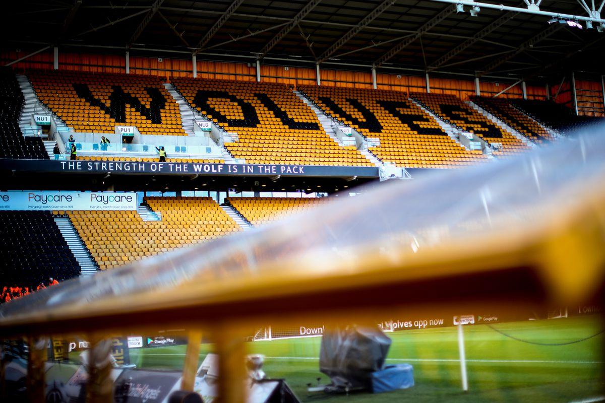 A general internal view of Molineux Stadium, home stadium of Wolverhampton Wanderers. (AMA/Sam Bagnall)
