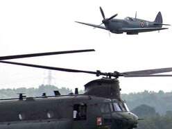 40ft from disaster: Spitfire and Chinook in near miss before 2018 Cosford Air Show
