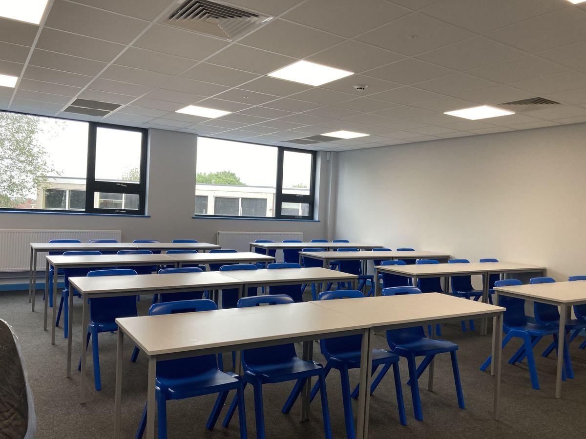 Inside the new school building at Bristnall Hall Academy