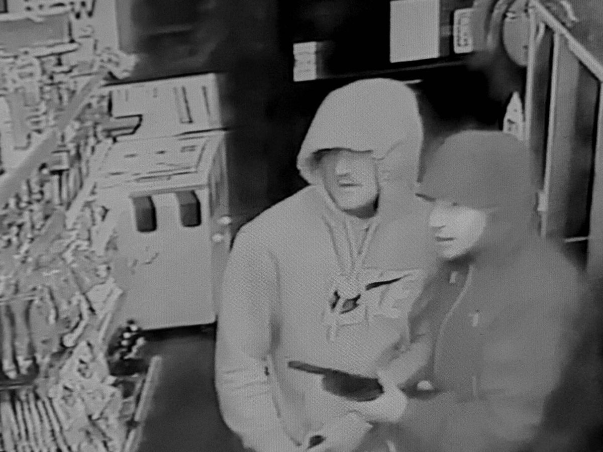 CCTV from the day of the robbery