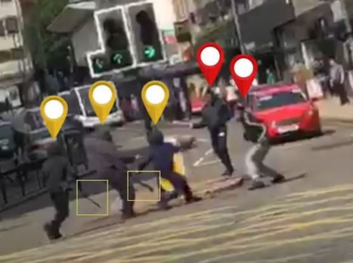 Terror on the streets. CCTV footage released by police.