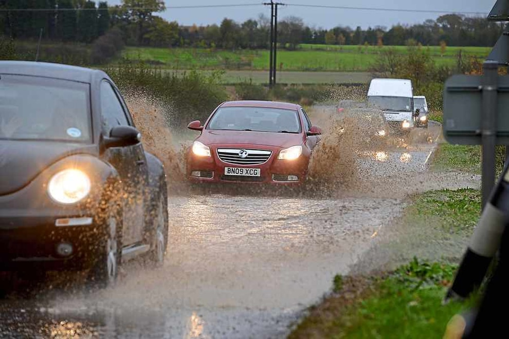 Severe weather warning as thunderstorms bring month's worth of rain