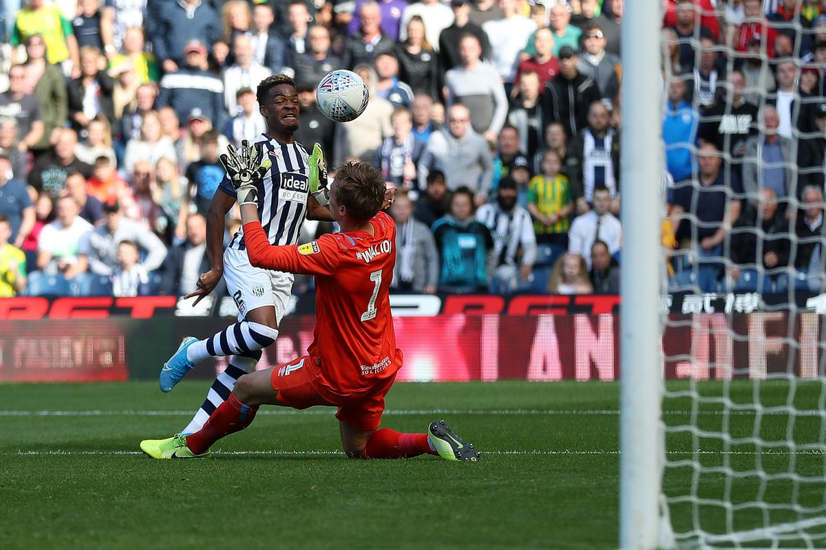 Grady Diangana of West Bromwich Albion scores a goal to make it 3-1. (AMA)