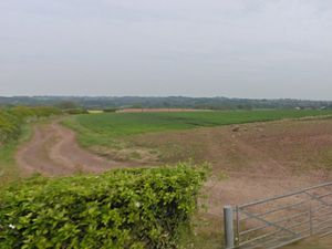 Farmland off Horsley Road near Eccleshall where the tipis would have been based