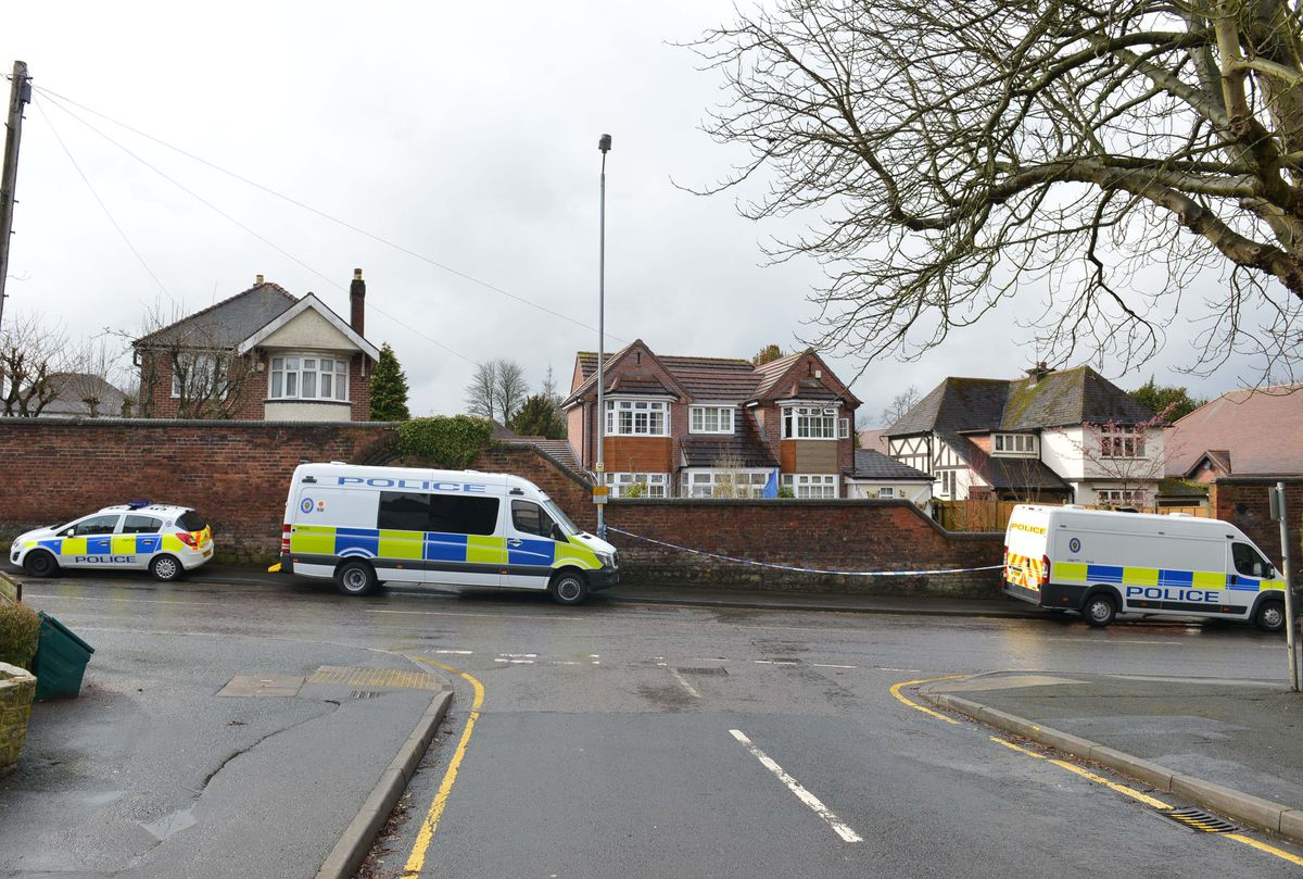 Police cordoned off the house in Rookery Lane