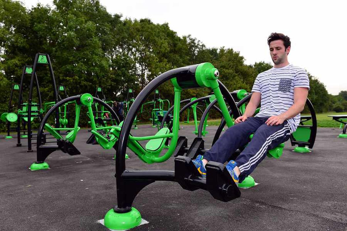 Futuristic, fun, free fitness: Enormous outdoor gym opens ...