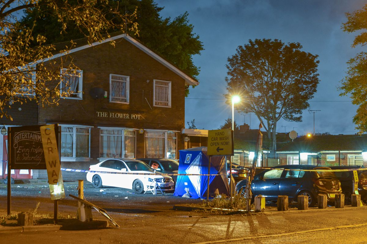 The Flower Pot pub has had its licence suspended after a man was stabbed outside on Sunday. Picture: @SnapperSK