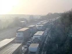 Two-hour M6 delays as crane breaks down on smart motorway roadworks