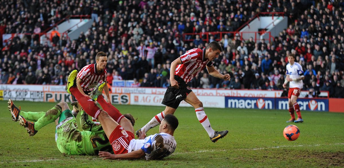 Scoring for Sheffield United during a successful loan spell in 2013/14