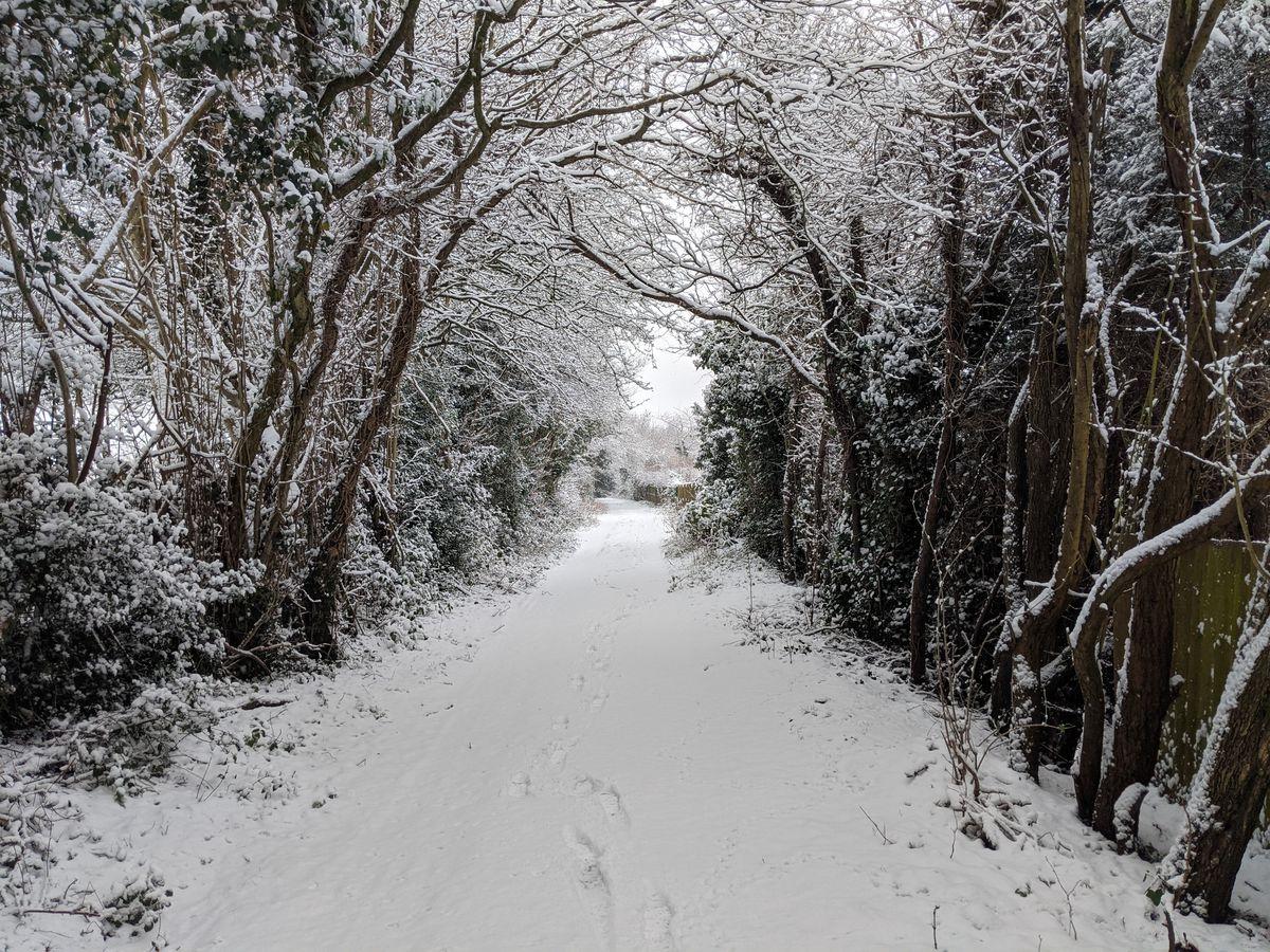 Snow in Sedgley. Photo: Jamie Brassington
