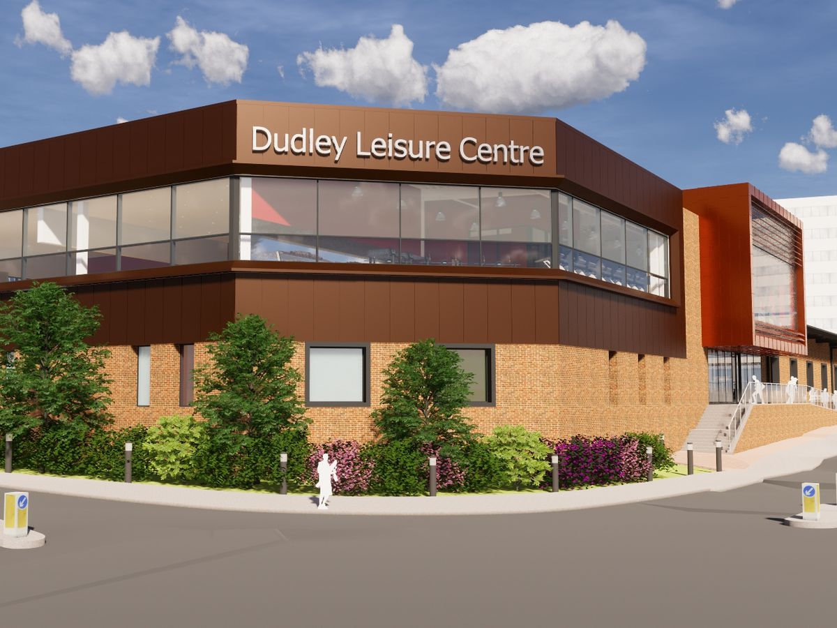 Artist's impressions of the new Dudley Leisure Centre
