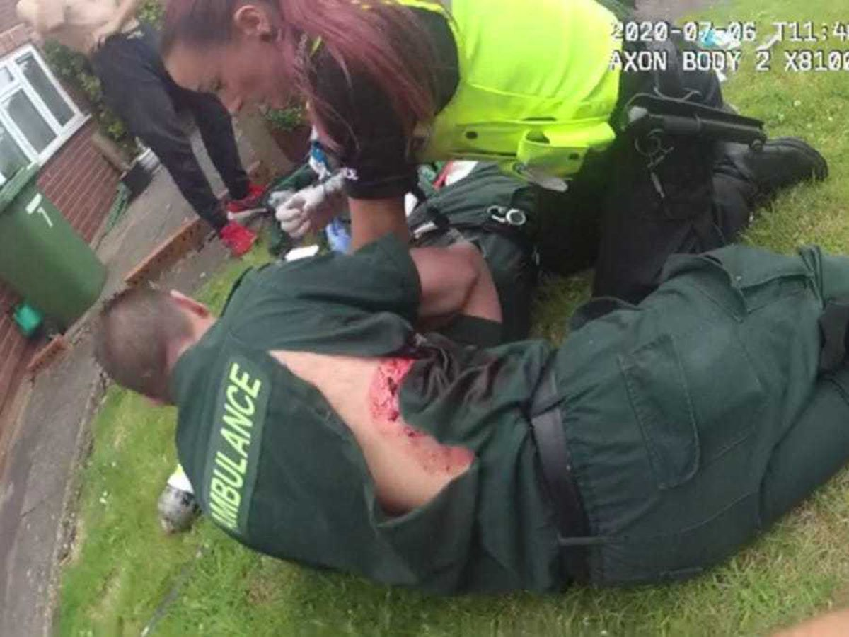 Mick Hipgrave with fellow paramedic Deena Evans