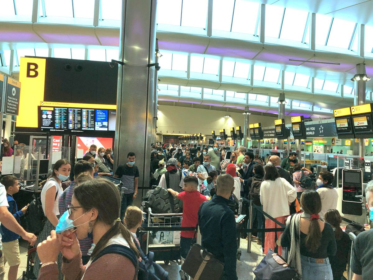 Airport travel chaos