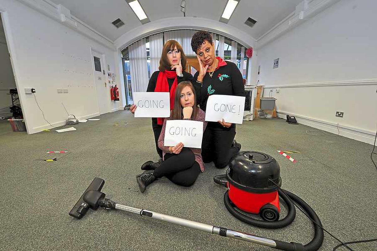 Fran Cartwright, Alison Pugh and Sandy Jones at Springboard