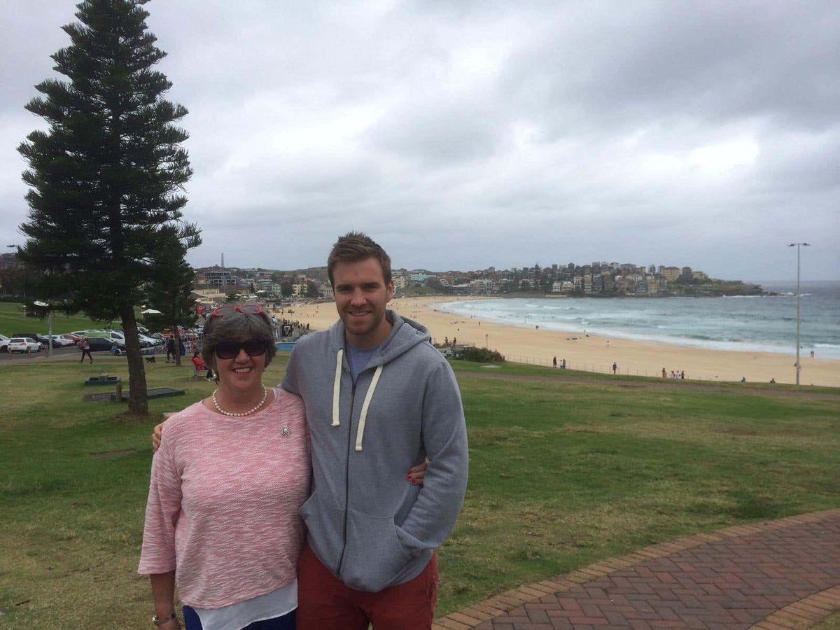Ellen O'Malley Dunlop and her son Stuart Dunlop