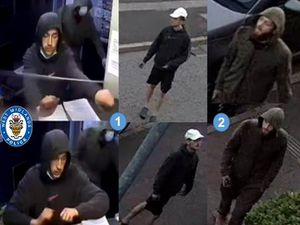 Police are searching for these men in relation to burglaries in Aldridge