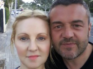 Simon Smith with his wife, Hayley