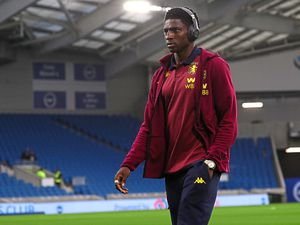 Aston Villa's Kortney Hause before the game during the Carabao Cup, Third Round match at the AMEX Stadium, Brighton.