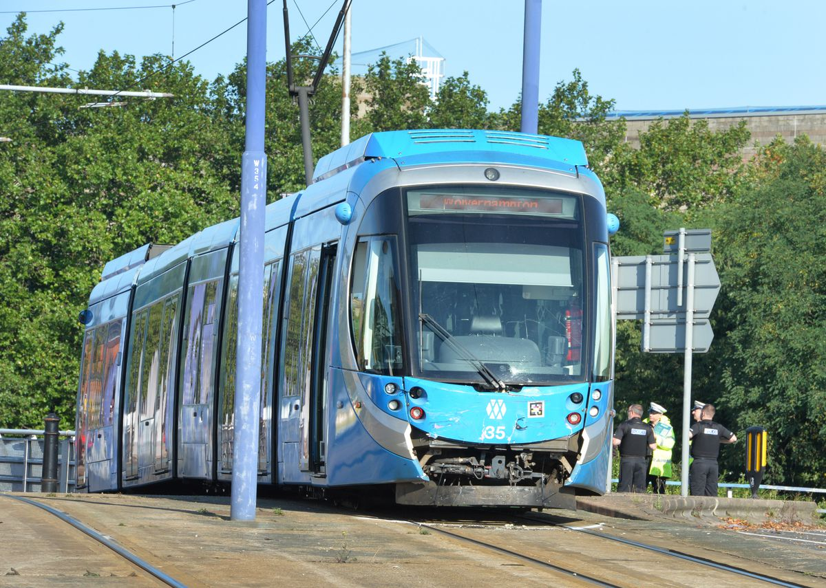 The tram sustained damage
