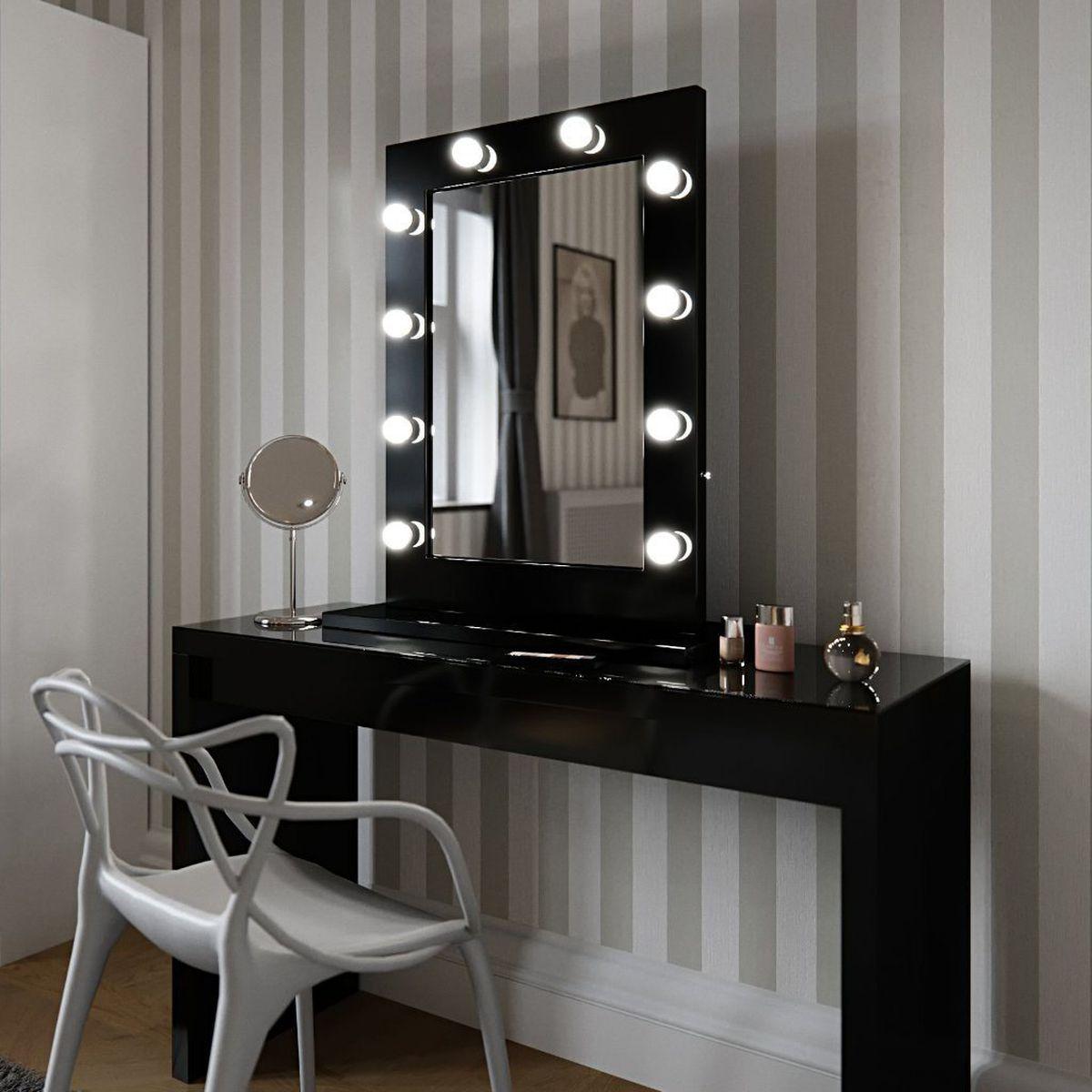 Angelina Black Gloss mirror