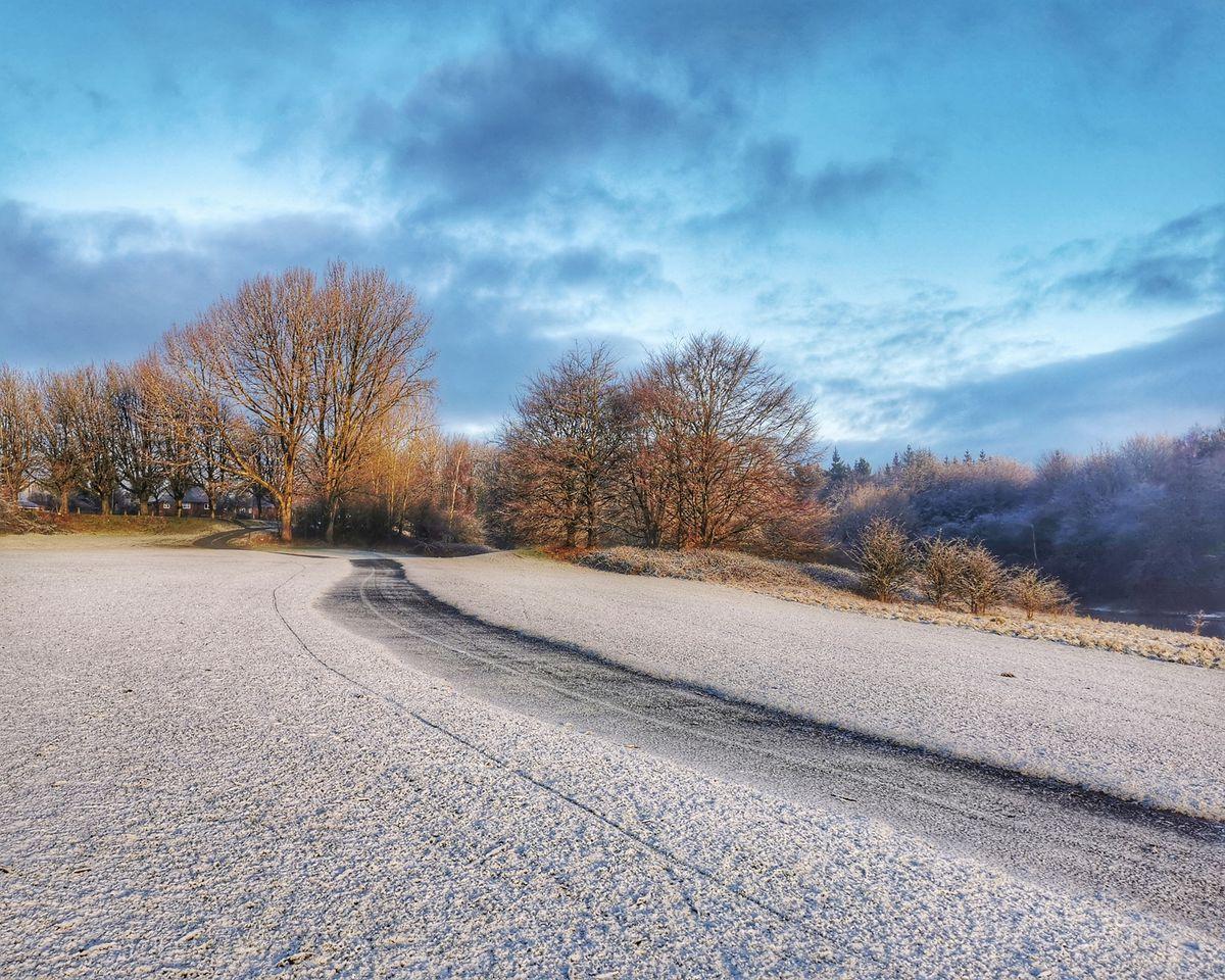 Snow in Woodside, Dudley, on Satuday. Photo: Matt Simpson @unfinishedsimpsony
