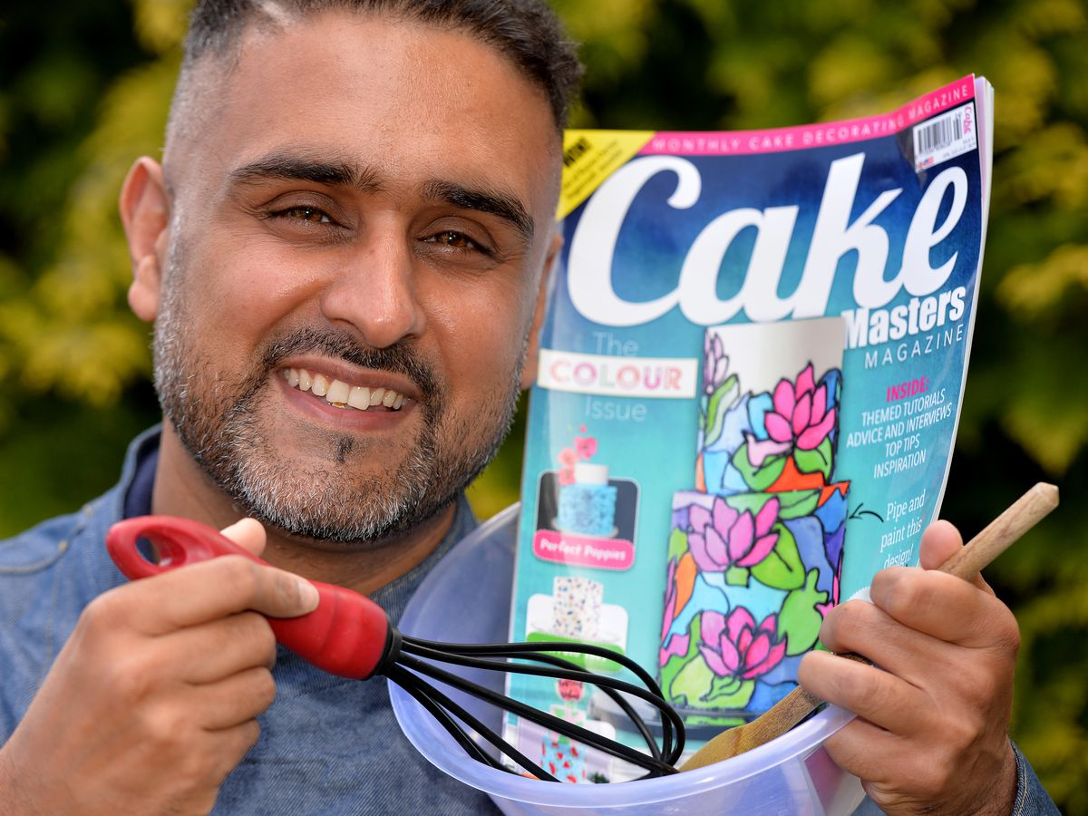 Paz Heer has achieved a long-held ambition to appear in Cake Masters magazine