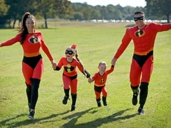 Hundreds dress as superheroes in St Giles Hospice walk in Walsall