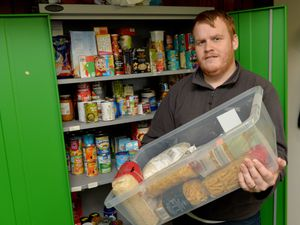 Project manager Adam Tilsley who oversees the food bank