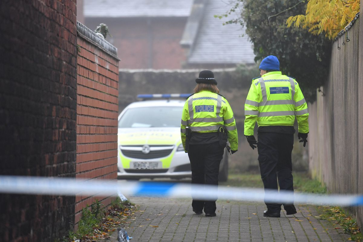 Staffordshire Police officers carrying out patrols nearby