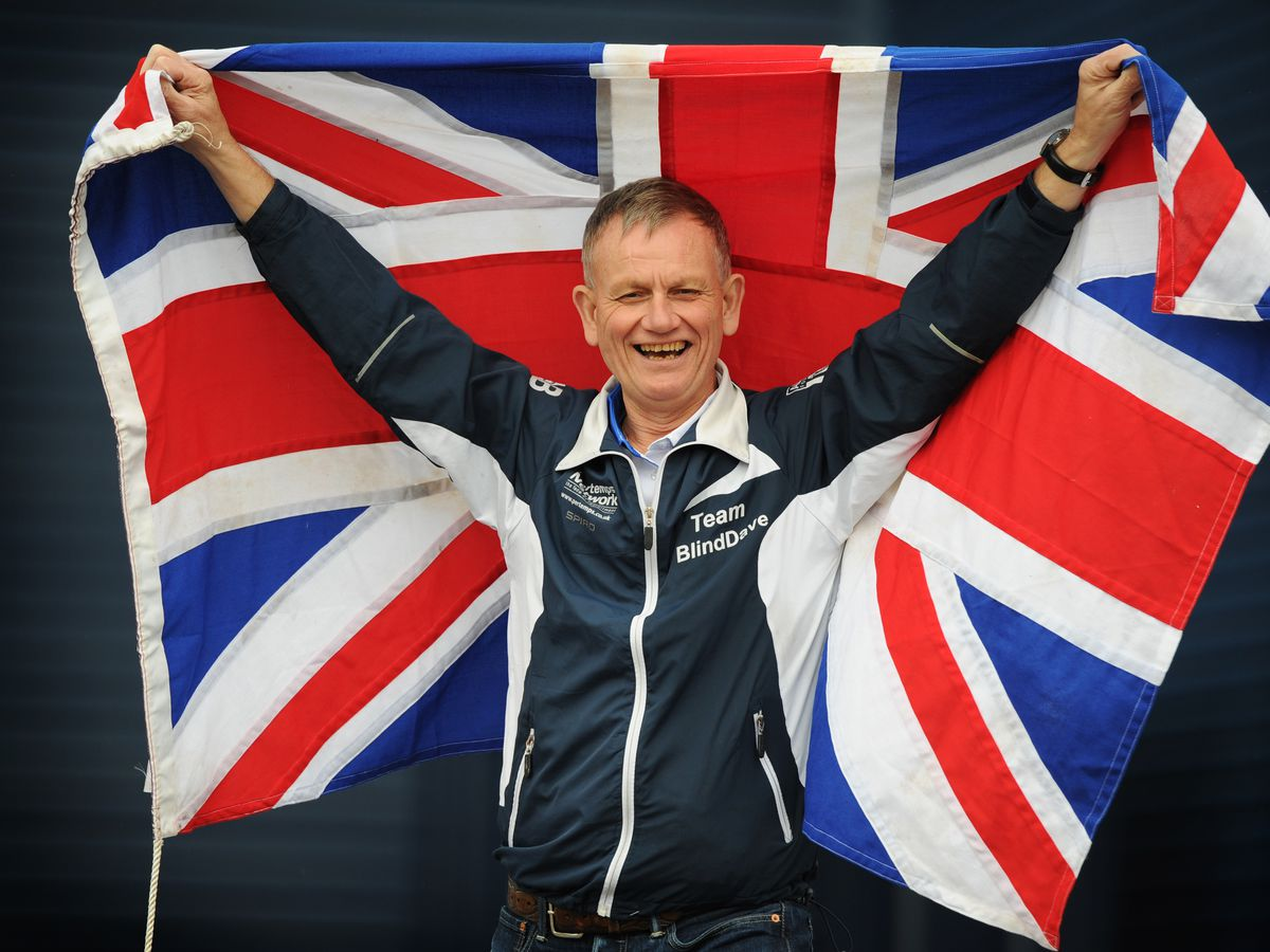"Blind Dave Heeley, from West Bromwich, said he was ""over the moon"" to receive an OBE"