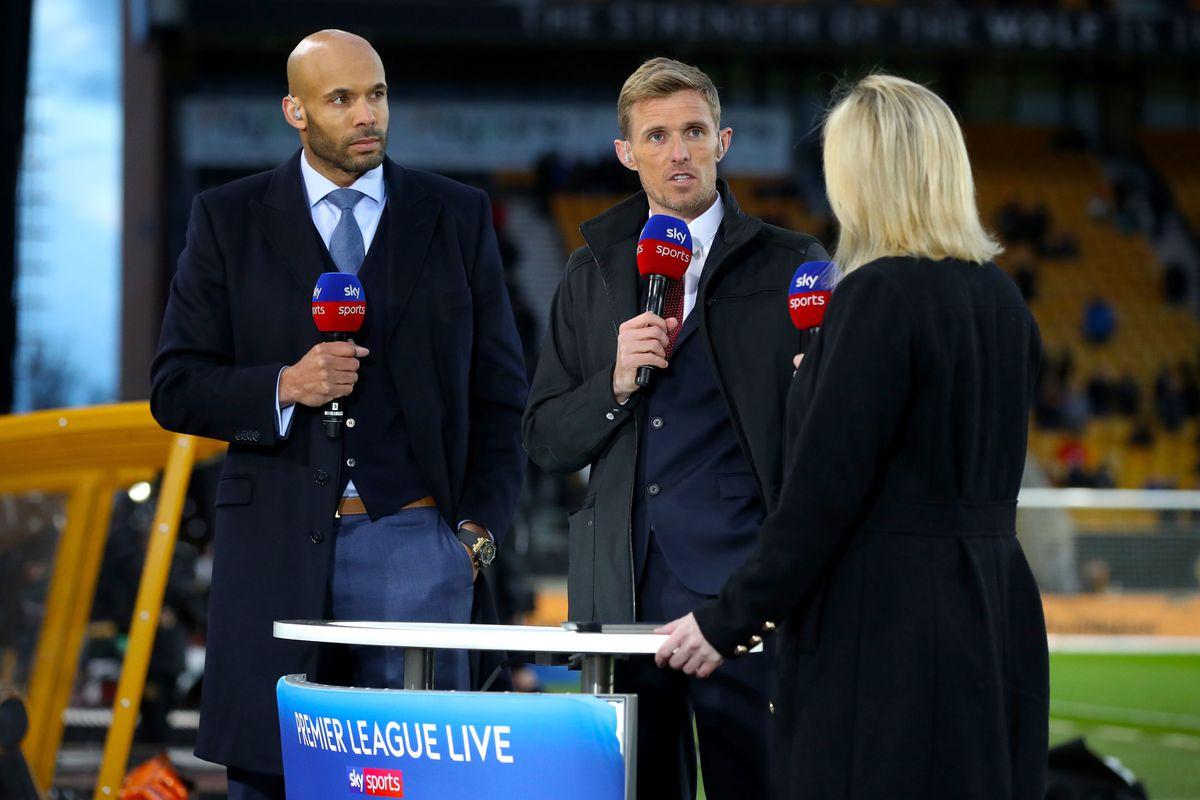 Wolves' Matt Murray as part of Sky Sports' Premier League coverage from Molineux last April