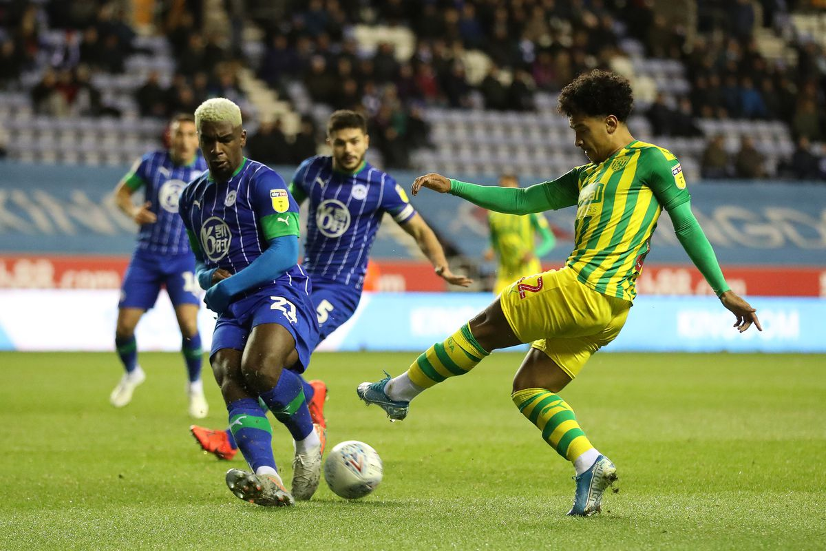 Cedric Kipre in action against Albion for Wigan (AMA)