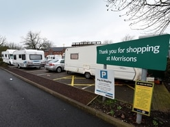 Caravans park up on Morrisons' supermarket car park