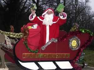 Kinver Rotary Club has organised a sleigh since 1986, including here in 2002