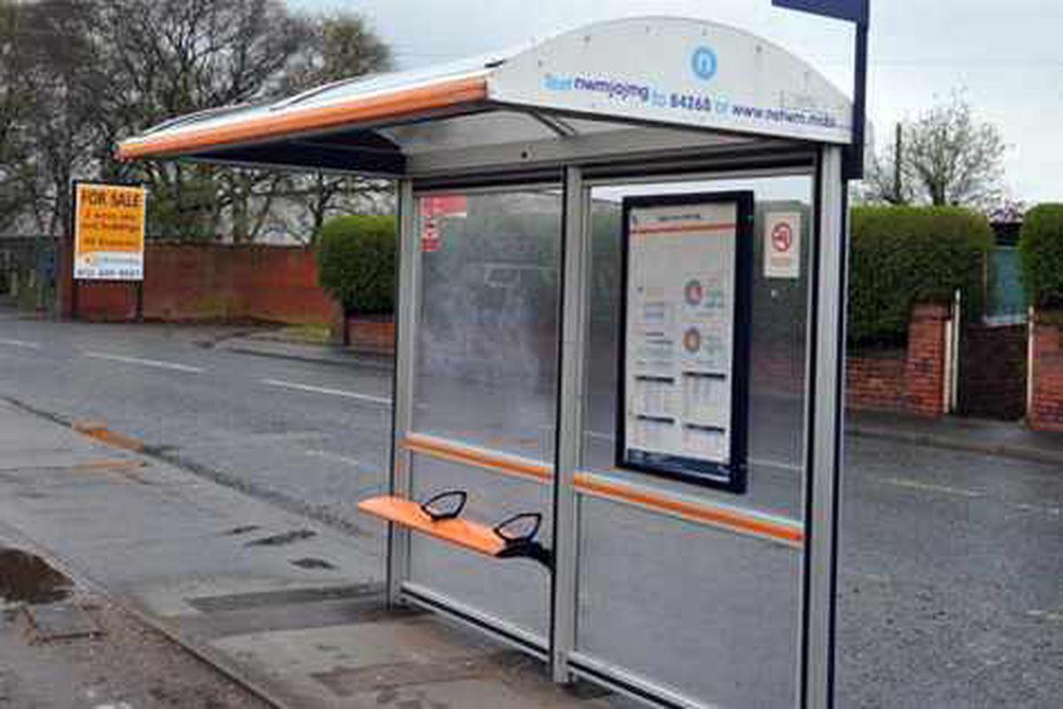 Teenagers hurt in bus stop crash