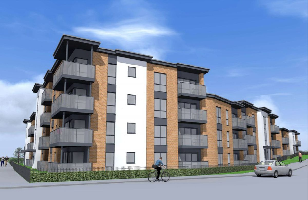 An artist's impression of how new apartments will look on the old Warreners Arms pub in Brownhills. Photo: Oakley Architects