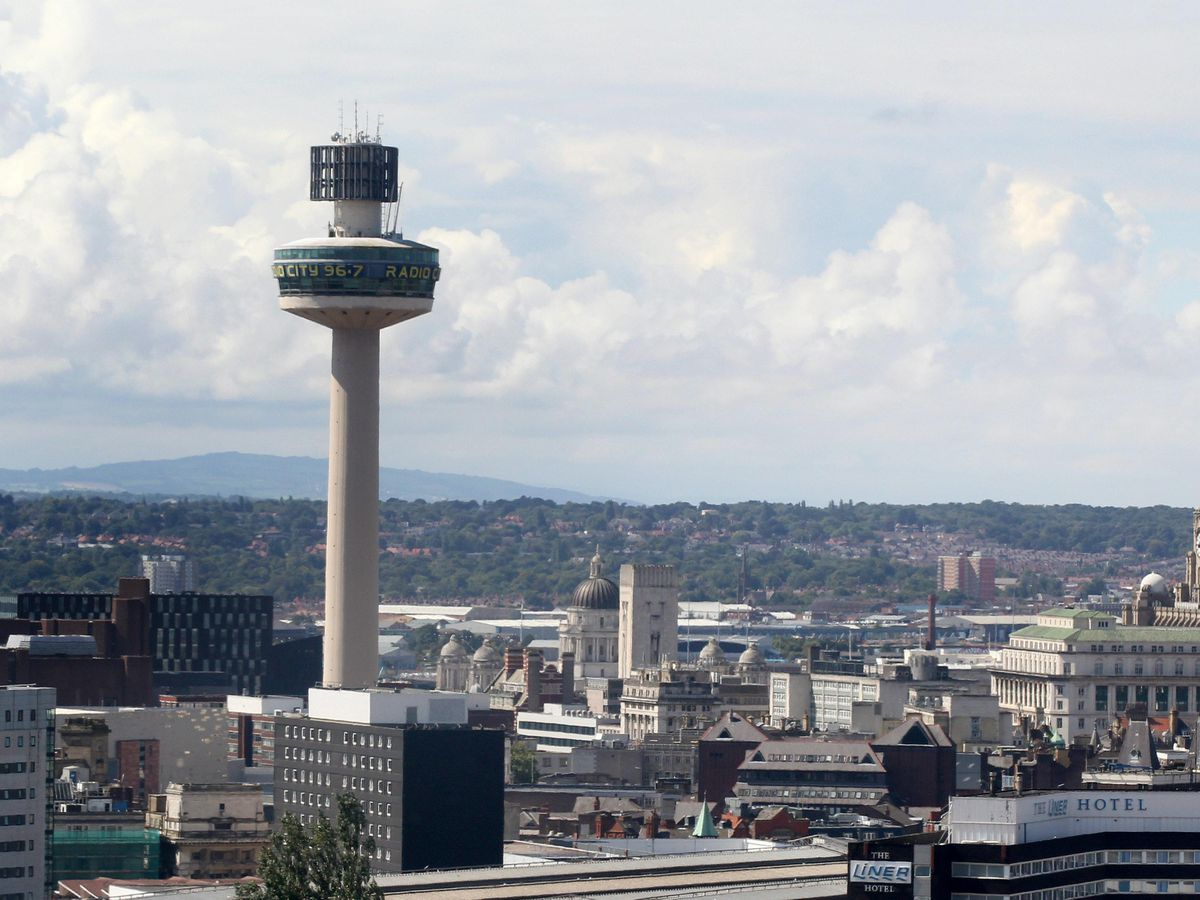 The Liverpool skyline is seen from the Royal Liverpool University Hospital, Liverpool (Lynne Cameron/PA).