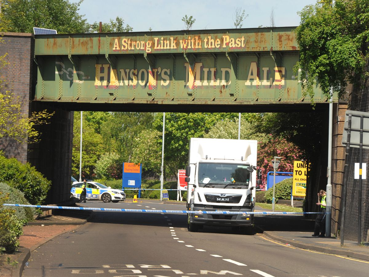 Stafford Road was closed off after the man was seriously injured after a collision with a lorry